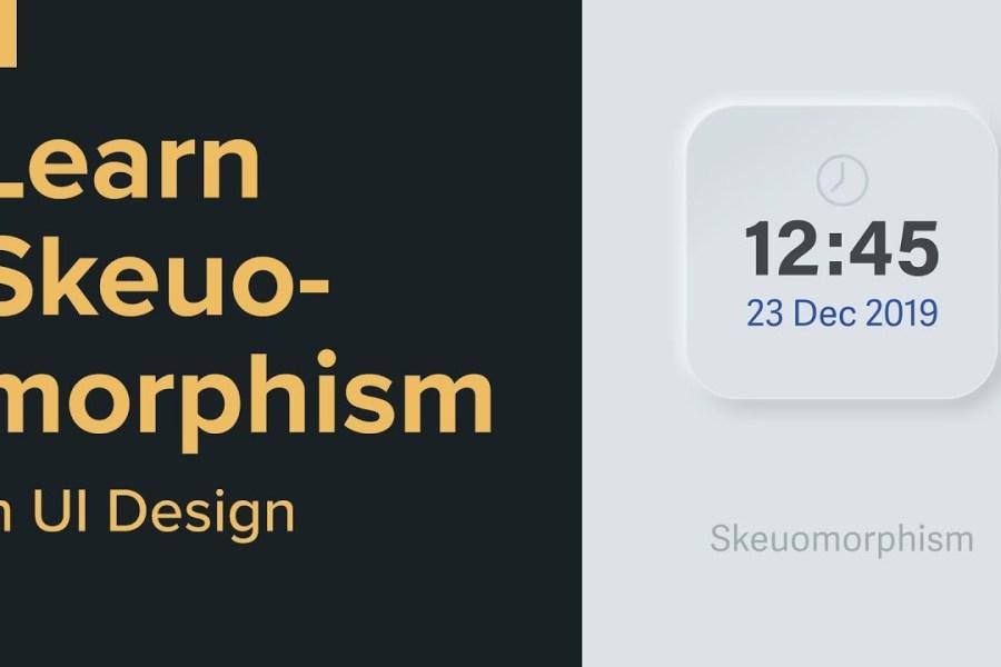 Skeuomorphism in User interface design - Exercise in Adobe XD
