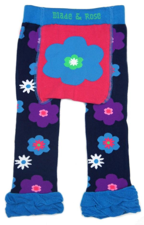 blade and rose flower leggings