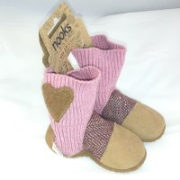 Nooks sling boots pink and beige