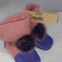 Nooks pink and purple fluffy 0-6m