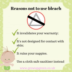 Don't bleach your nappies