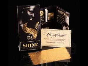 Shine 24K Vip King Size Gold Rolling Papers 1