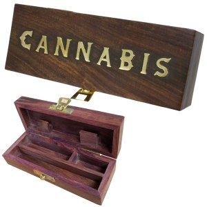 WOODEN ROLLING BOX CANNABIS