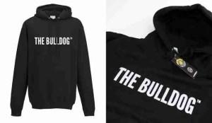 Felpa Cappuccio Scritta in rilievo The Bulldog