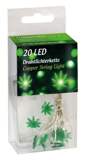 WEED LED 20 LIGHTS COPPER STRING LIGHT
