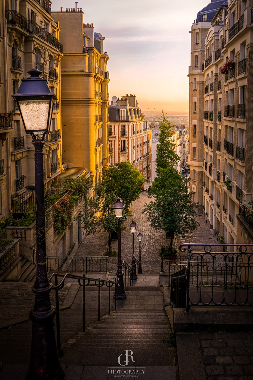 Parisian Stairway Print