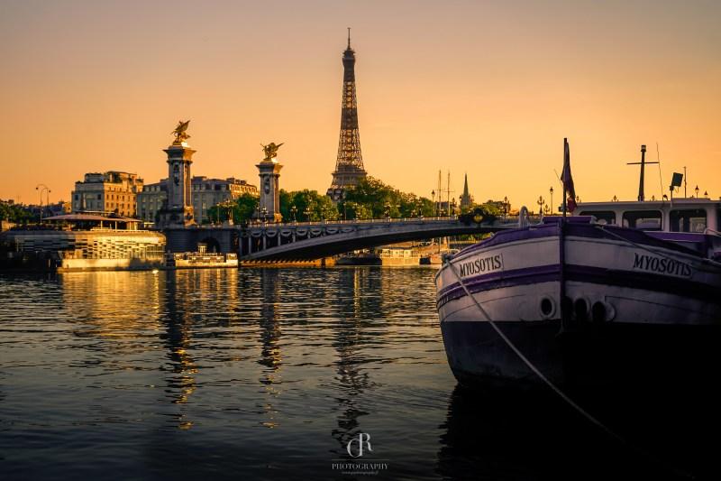 Sunset Paris Seine