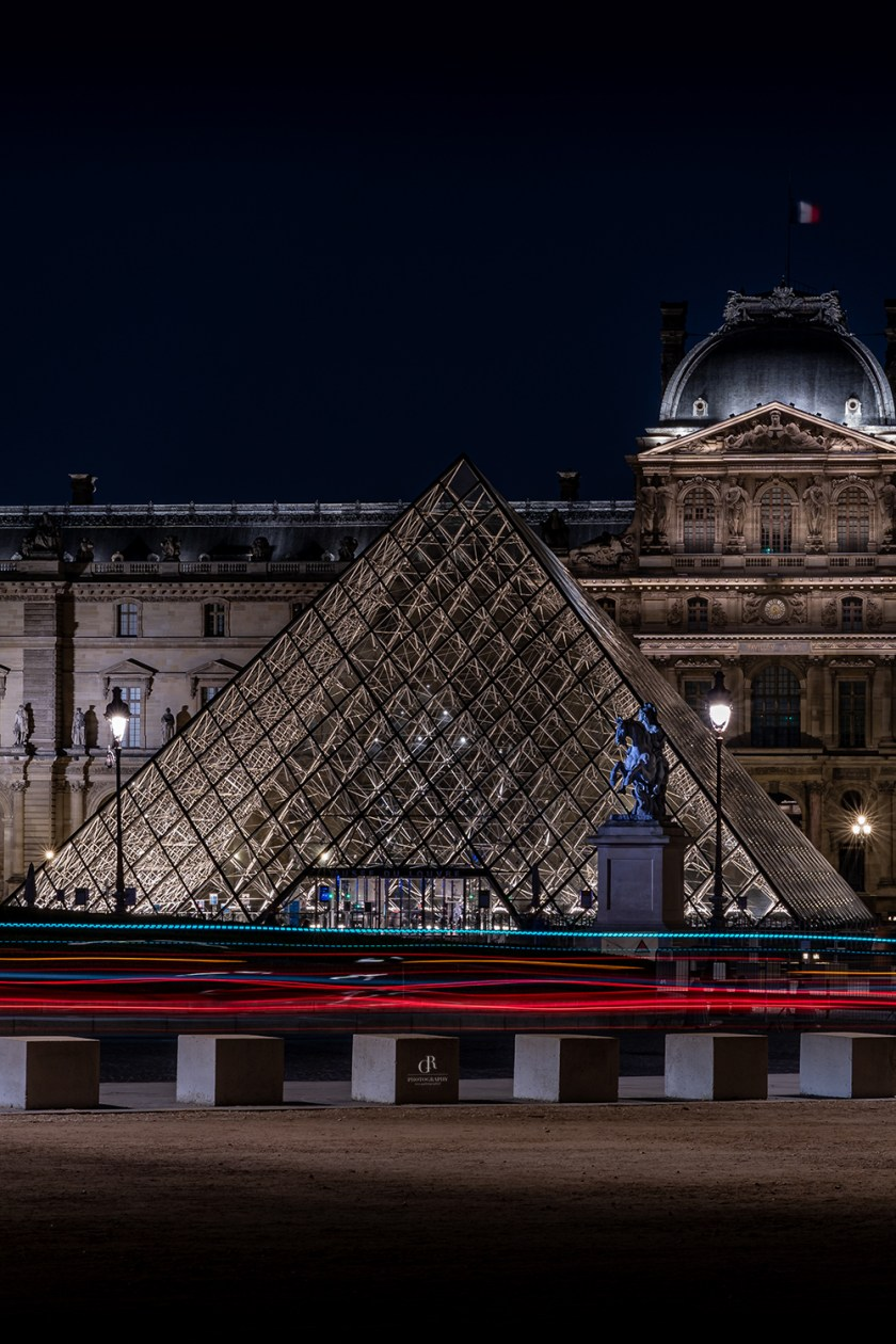 Louvre by Night Print