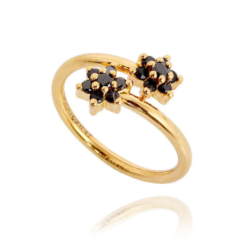 Rings Baby Black Spiral Gold Ring GRT Jewellers