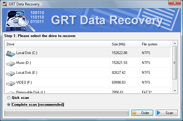 GRT Data Recovery - www.bidunyabilgi.com