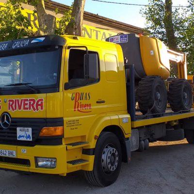 Grúas para trasporte de maquinaria