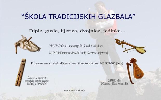 1skola tradicijskih glazbala 2015 - plakat najava