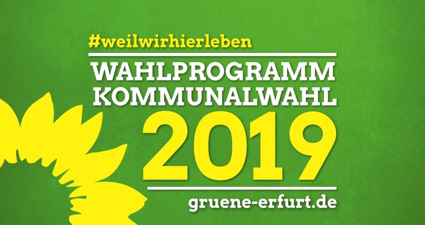Wahlprogramm Kommunalwahl 2019