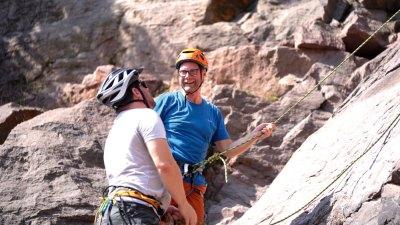 Dirk & Hagen klettern