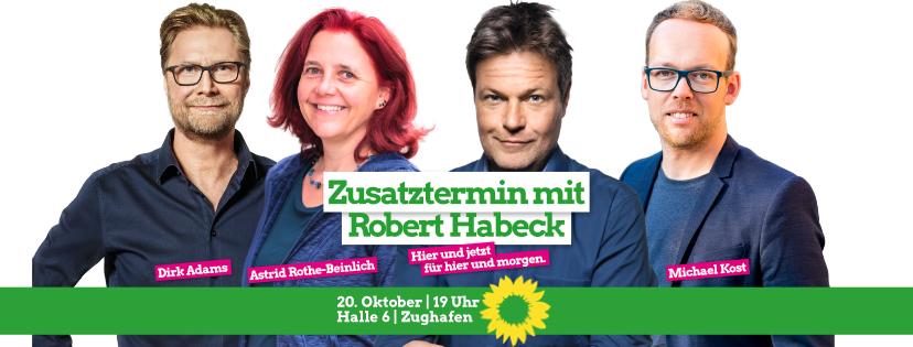 Zusatztermin mit Robert Habeck am 20.10.19