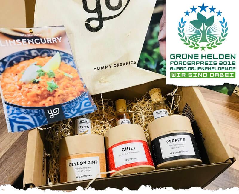 Yummy Organics liefert faire Gewürze und DU bestimmst den Preis