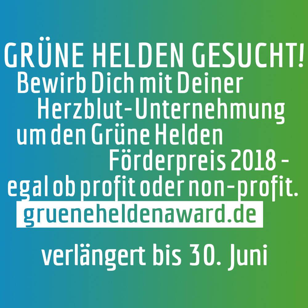 Der Grüne Helden Award fördert öko-soziales Engagement