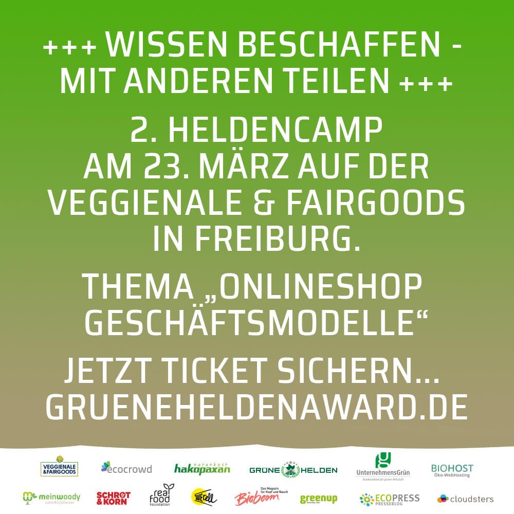 """""""Grüne Helden Forum"""" – Onlineshop Geschäftsmodelle"""