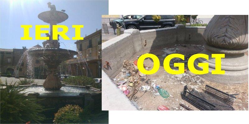 fontana piazza pio xii ieri e oggi