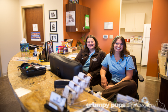 front office staff at eastown veterinary clinic in east grand rapids, michigan