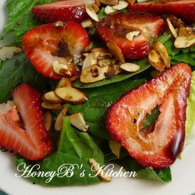StrawberryBasil Salad with Balsamic Vinaigrette Grumpy