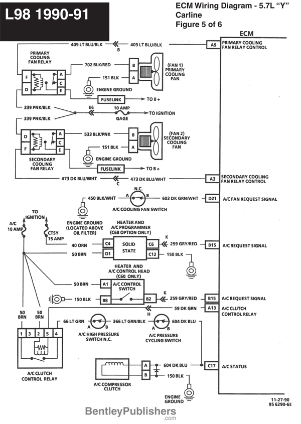 Main Harness Wiring Diagram 1990 Corvette. Corvette. Auto