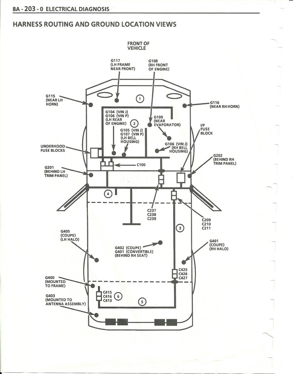 1984 corvette service bulletin rear hatch defogger