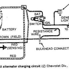 Mercruiser 4 3 Alternator Wiring Diagram Kenwood Kdc 355u 5 Wire Gm All Data Chevy One Today 12v