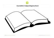 Aufgeschlagenes Buch Malvorlage Coloring and Malvorlagan
