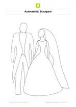 Brautpaar Ausmalbilder Malvorlagen - ein Bild zeichnen