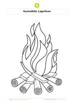 Ausmalbilder Feuer - Kostenlose Ausmalbilder