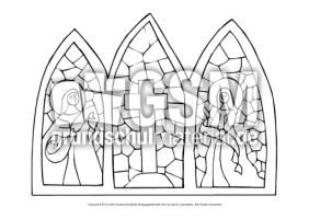 Kirchenfenster Ausmalbild