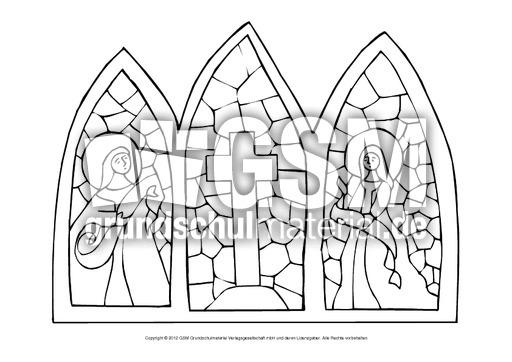 Kirchenfenster Malvorlage