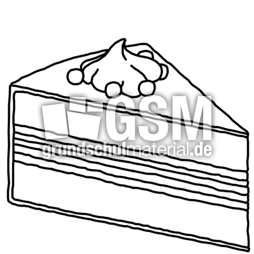 Torte  TZ  Nomengrafiken zum Ausmalen  Material Klasse