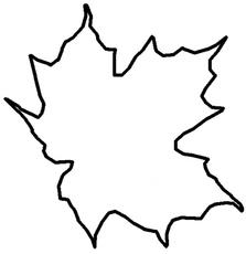 Schablonen Herbstblätter - Herbst - Jahreszeiten - HuS