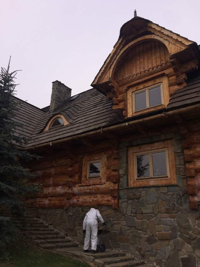 Żelowanie drewnianego domu XILIX GEL