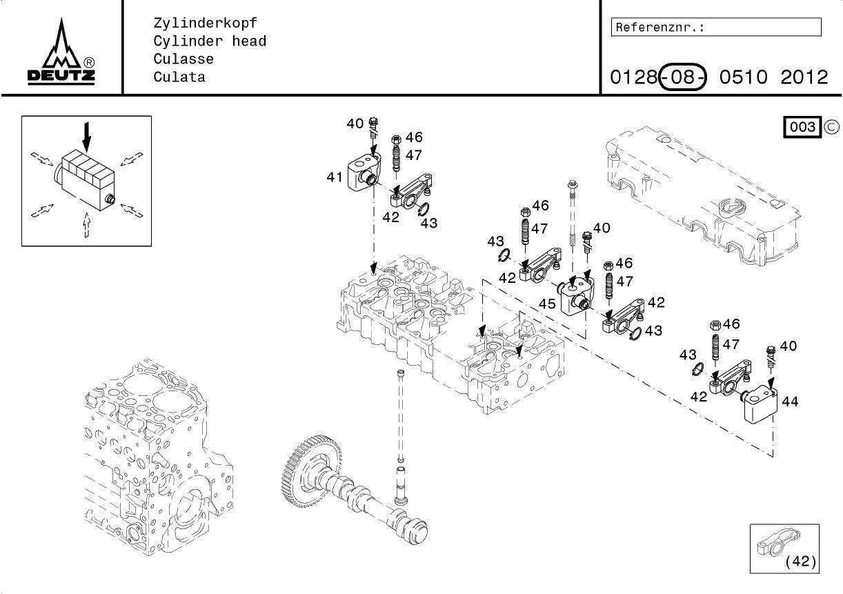 Culata de motor Deutz BFM2012