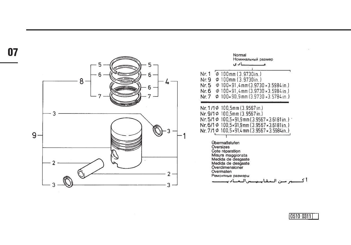 Piston motor Deutz 912
