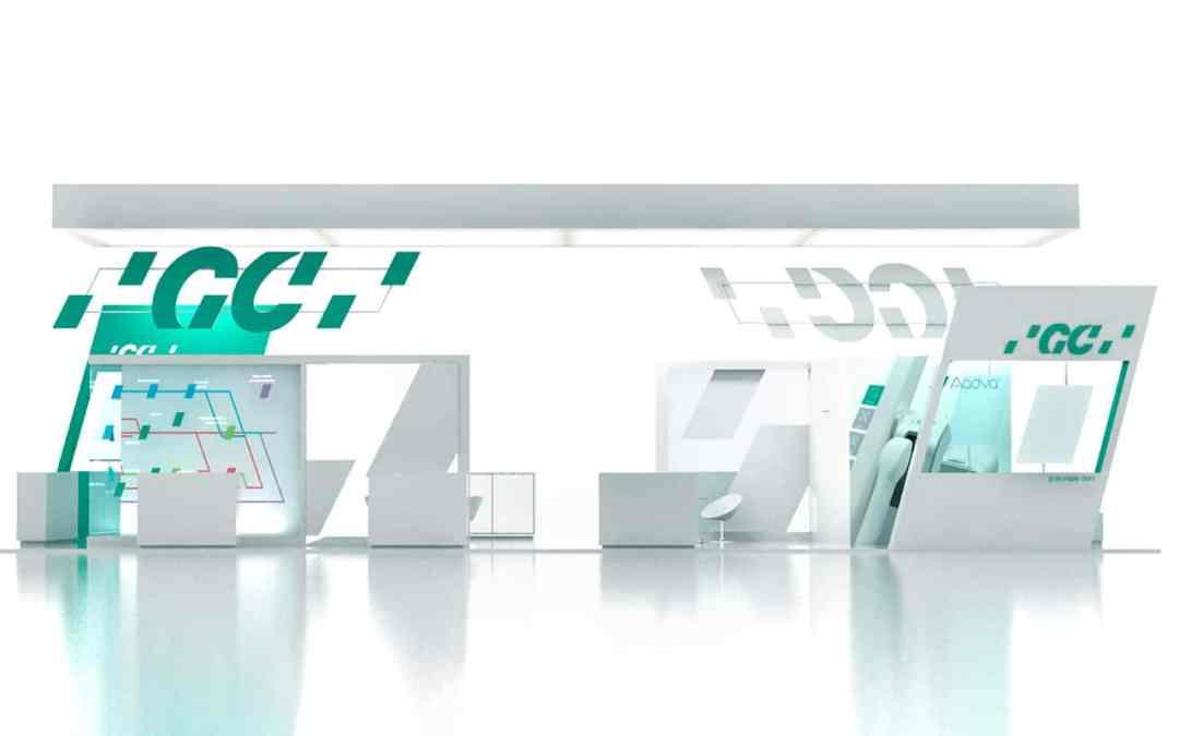 Fabricación de Stands Infografía stand con detalles decoración
