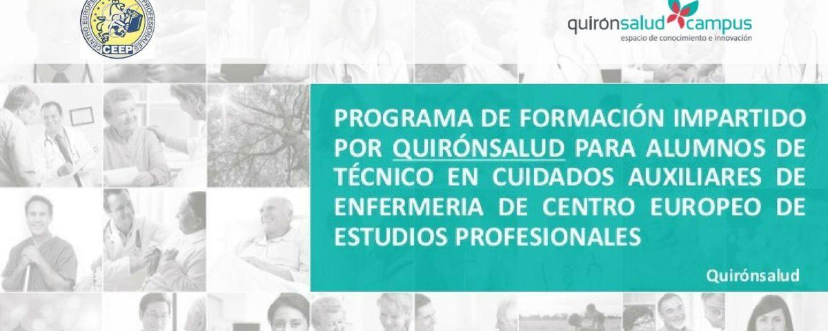 Programa de seminarios impartidos por CEEP y Grupo Quirónsalud