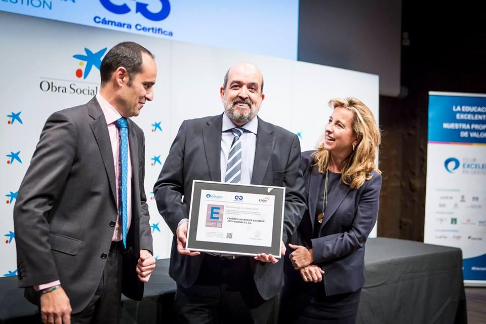 Eduardo Garzo de CEEP recoge sello a la excelencia EFQM
