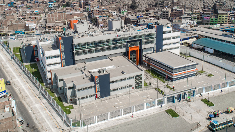New hospital in the area of ATE Vitarte in Lima. Peru.