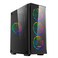 GABINETE GAMER. NEGRO/ ATX/ PANEL FRONTAL Y LATERAL CRISTAL TEMPLADO/ 7 RANURAS DE EXPANSION/ FILTRO POLVO MAGNETICO INFERIOR/ ESPACIO PARA 4 VENTILADORES DE 120MM /SOPORTA VGA HASTA 300MM