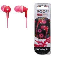 AUDIFONOS TIPO INSERCION (IN-EAR)  PANASONIC RP-HJE125PP COLOR ROSA CONECTOR 3.5MM