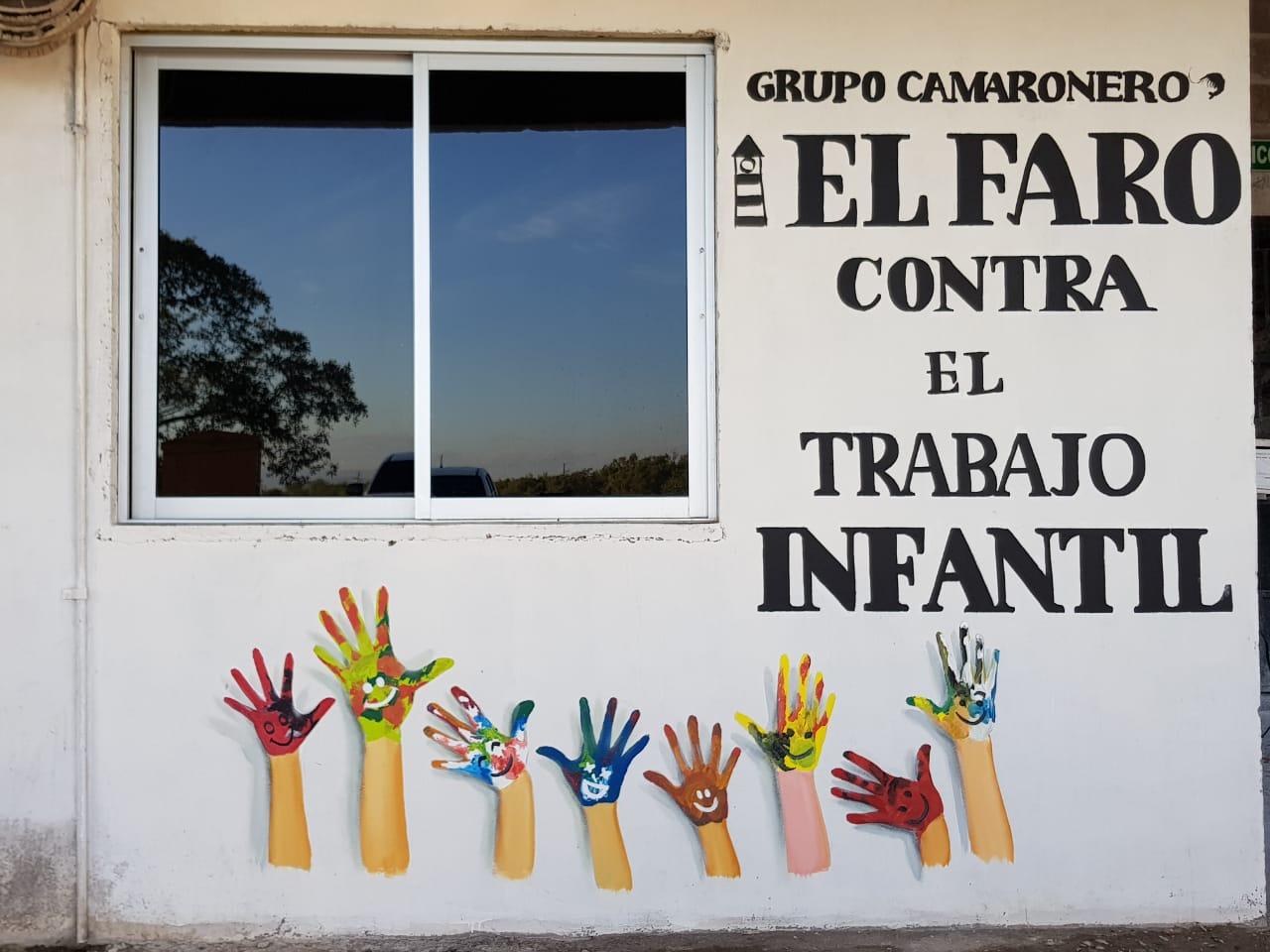 Mural contra el trabajo infantil en El Faro