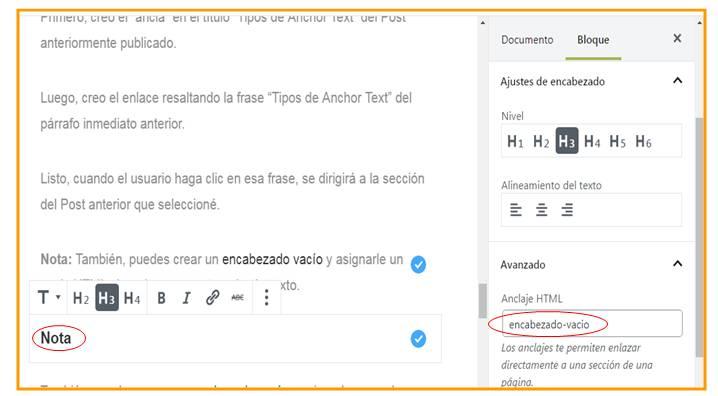 Cómo Crear un Anchor Text