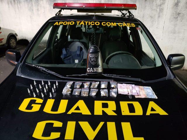 GCM detém casal de menores por tráfico de drogas no Vila Olinda em Rio Claro