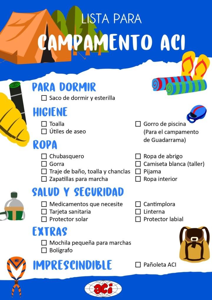 Lista campamentos