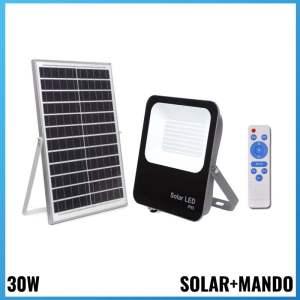 Projector 30W + Panell Solar 6000K Llum