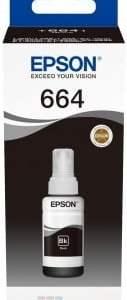 Epson T6641 Negro - Botella de Tinta Original C13T664140